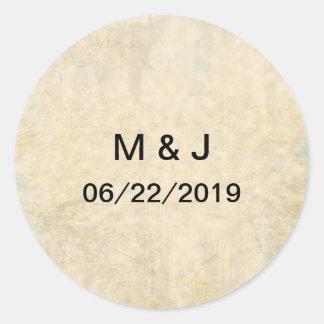 Wedding Stationery Group 1 Classic Round Sticker