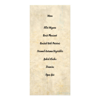Wedding Stationery Group 3 Reception Menu