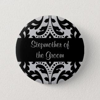 Wedding stepmother of the groom 6 cm round badge