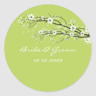 Wedding Stickers blossoms branches, custom color!