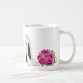 Wedding Stiletto Shoe and Bouquet of Roses Mug
