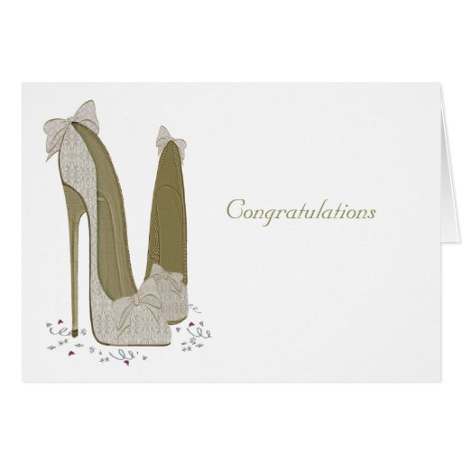 Wedding Stiletto Shoes Art Gifts Greeting Card