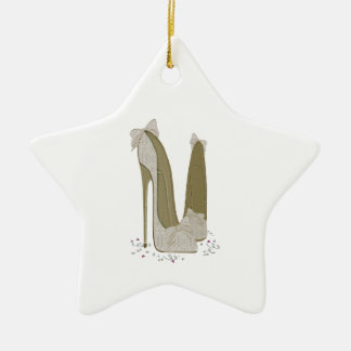 Wedding Stiletto Shoes Art Gifts Ceramic Star Decoration