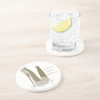 Wedding Stiletto Shoes Art Gifts Drink Coasters