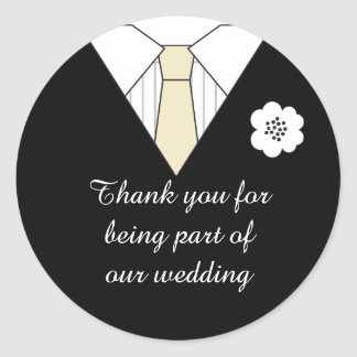 Wedding Suit Thank You Favor Stickers