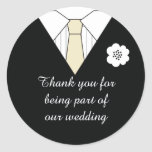 Wedding Suit Thank You Favour Stickers