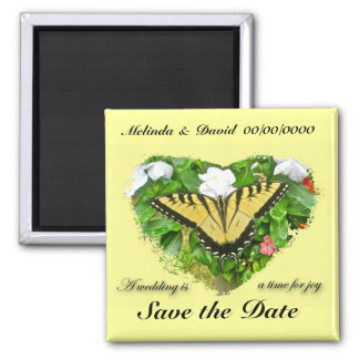 Wedding Swallowtail Butterfly Items Fridge Magnets