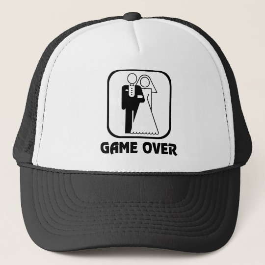 Wedding Symbol Game Over Trucker Hat