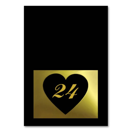 Wedding Table Card | Black Golden Color Collection