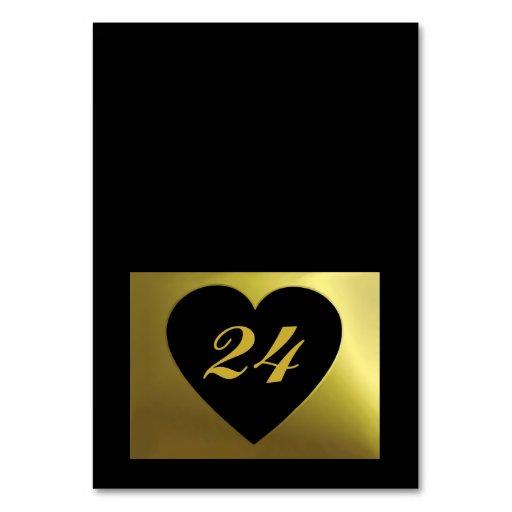 Wedding Table Card   Black Golden Color Collection