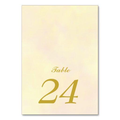 Wedding Table Card   Vintage Rose Yellow