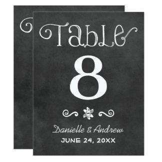 Wedding Table Number | Black Chalkboard Charm Card