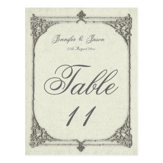 Wedding Table Number Card Antique / Vintage Frame