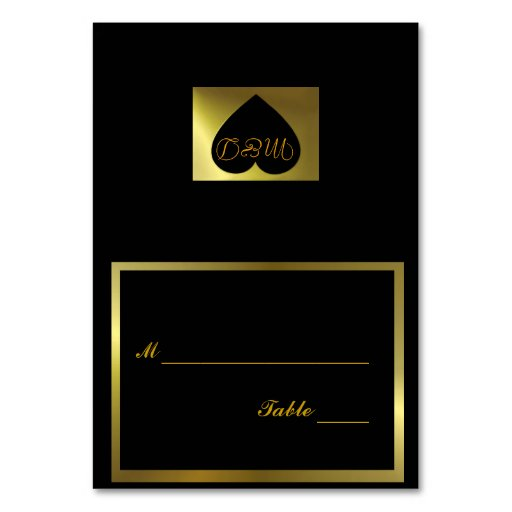Wedding Table Number Card Black Collection Table Card