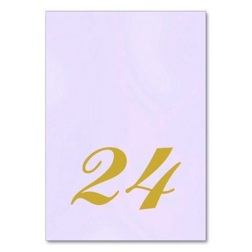 Wedding Table Number Card Lavender Collection Table Card