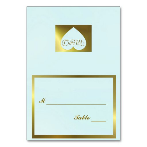 Wedding Table Number Card Mint Green Collection Table Cards