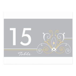 Wedding Table Number Card Post Cards