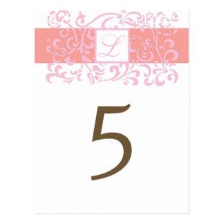 Wedding Table Number Card Postcard