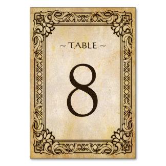 Wedding Table Number Card Victorian Frame Vintage Table Card