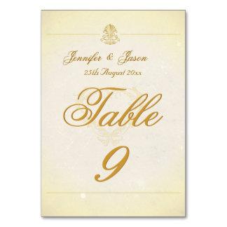 Wedding Table Number Card Vintage Parchment Paper