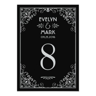 Wedding Table Number Cards | Art Deco Style 13 Cm X 18 Cm Invitation Card