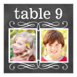 Wedding Table Number Cards | Bride + Groom Photos 13 Cm X 13 Cm Square Invitation Card