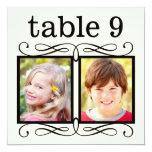Wedding Table Number Cards | Bride + Groom Photos 13 Cm X 13 Cm Square Invitation Card