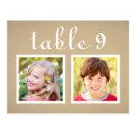 Wedding Table Number Cards   Bride + Groom Photos Postcard