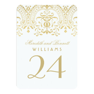 """Wedding Table Number Cards 
