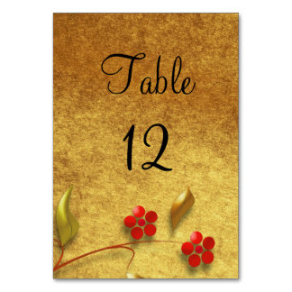Wedding Table Number | Floral design Table Cards