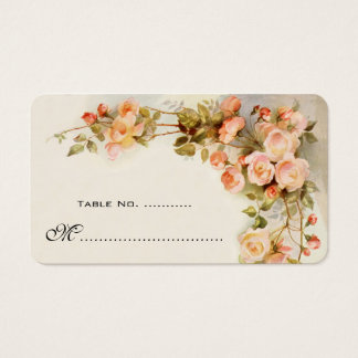 Wedding Table Number, Vintage Roses