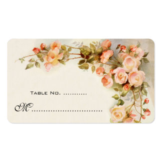 Wedding Table Number, Vintage Roses Pack Of Standard Business Cards