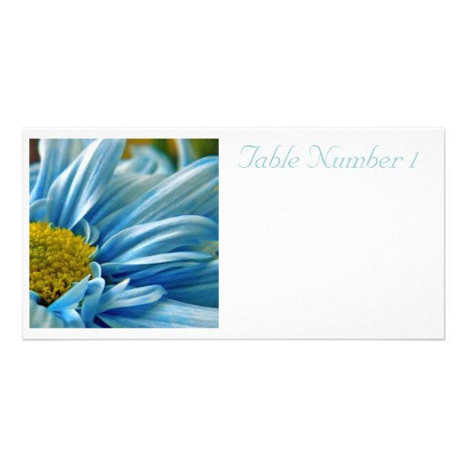 Wedding Table Numbers Photo Card