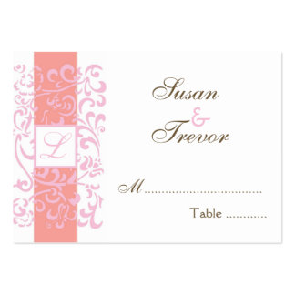 Wedding Table Seating Cards - Monogram Vine Business Card