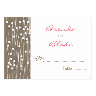 Wedding Table Seating Cards - Organic Dots and Lin Business Card Template