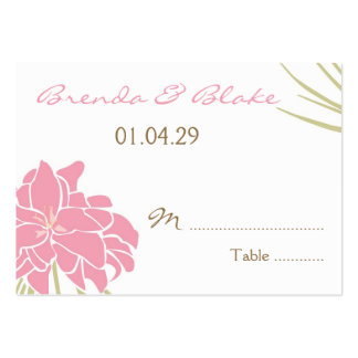 Wedding Table Seating Cards - Tropical Lily Business Cards