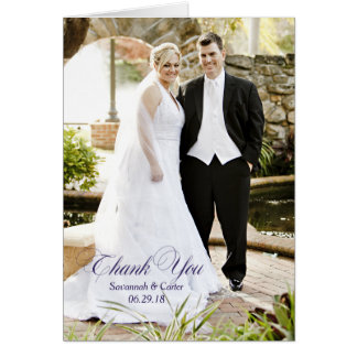 "Wedding Text Overlay Photo ""Thank You"" Card"
