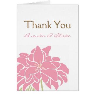 Wedding Thank Card - Tropical Lily