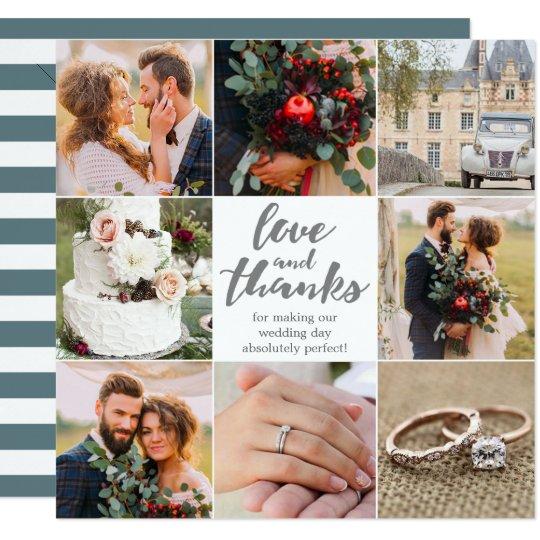 Wedding | Thank You |8 photo's | Photo Card