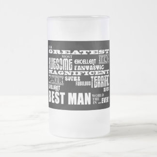 Wedding Thank You Best Men : Greatest Best Man Frosted Glass Mug