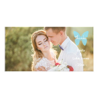 Wedding Thank You - Butterfly Photo Card