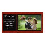 Wedding Thank You Card Custom Photo Card