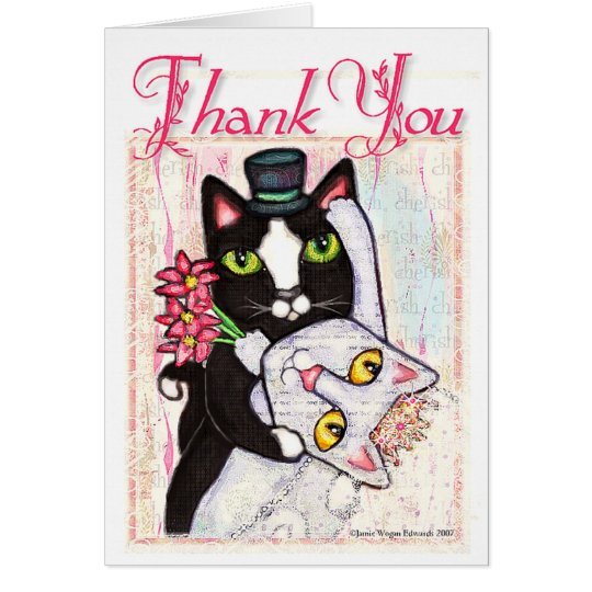 Wedding Thank You Card from The Bride & Groom