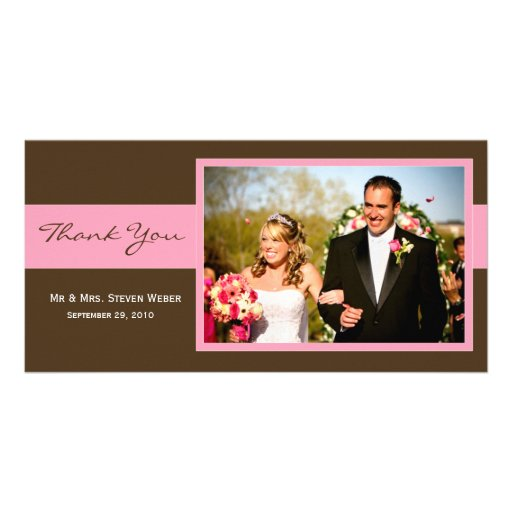 Wedding Thank You Card Personalized Photo Card