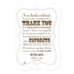 Wedding Thank You Card Reception Stationery Personalized Invite