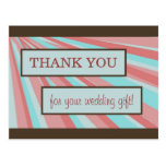 Wedding Thank You Card - Simple Post Card