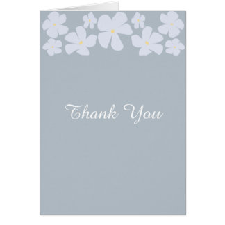 Wedding Thank You Cards Ice Grey Jasmine