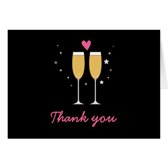 Wedding Thank You Champagne Toast Card