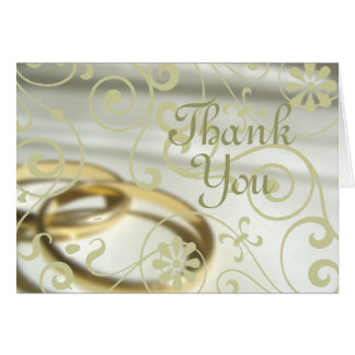 Wedding Thank You (Customizable Color!) Greeting Card