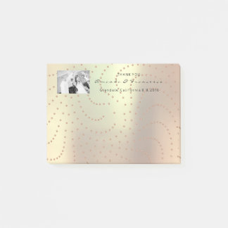 Wedding Thank You Favor Photo Copper Pin Swarovski Post-it Notes